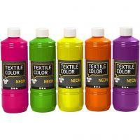 Textile Color Paint, assorted colours, 5x500 ml/ 1 pack
