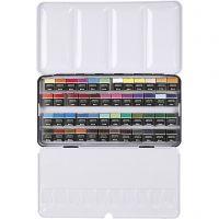 Art Aqua watercolour paints, ½-pan, size 10x20 mm, assorted colours, 48 colour/ 1 pack