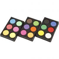 Watercolour, H: 16 mm, D: 44 mm, neon colours, additional colours, 1 set