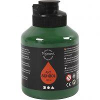 Pigment Art School Paint, semi-transparent, dark green, 500 ml/ 1 bottle