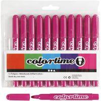 Colortime Marker, line 5 mm, rose, 12 pc/ 1 pack