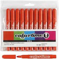 Colortime Marker, line 5 mm, dark orange, 12 pc/ 1 pack