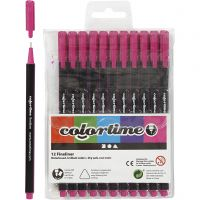 Colortime Fineliner, line 0,6-0,7 mm, cyclamen, 12 pc/ 1 pack