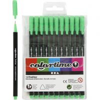 Colortime Fineliner, line 0,6-0,7 mm, light green, 12 pc/ 1 pack
