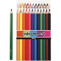 Colortime colouring pencils, L: 17,45 cm, lead 5 mm, JUMBO, assorted colours, 12 pc/ 1 pack