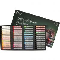Gallery Soft Pastel Set, L: 6,5 cm, thickness 10 mm, assorted colours, 48 pc/ 1 pack