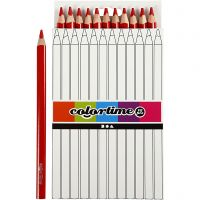 Colortime colouring pencils, L: 17,45 cm, lead 5 mm, JUMBO, red, 12 pc/ 1 pack