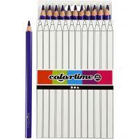 Colortime colouring pencils, L: 17,45 cm, lead 5 mm, JUMBO, purple, 12 pc/ 1 pack