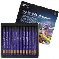 Watercolor Crayons, L: 9,3 cm, violet (320), 12 pc/ 1 pack