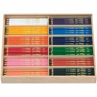 Super Ferby 1 colouring pencils, L: 18 cm, lead 6,25 mm, assorted colours, 12x12 pc/ 1 pack
