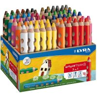 Groove Triple1 colouring pencils, L: 12 cm, lead 10 mm, assorted colours, 72 pc/ 1 pack