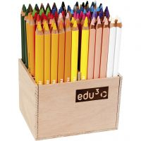edu jumbo coloured pencils, thickness 10 mm, lead 6,25 mm, assorted colours, 96 pc/ 1 pack