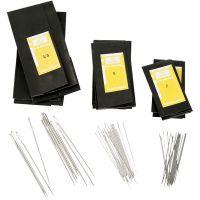 Darning Needles, no. 3/0+5+7, L: 48-65 mm, 150 pc/ 1 pack