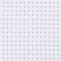 Aida Fabric, size 50x50 cm, 35 squares per 10cm , white, 1 pc