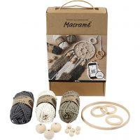 Macramé Discover kit, D: 2 mm, 1 set