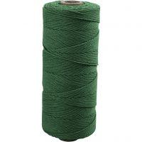 Cotton Twine, L: 315 m, thickness 1 mm, Thin quality 12/12, green, 220 g/ 1 ball