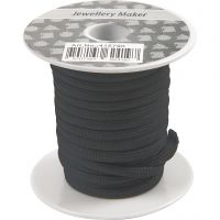 Polyester Cord, thickness 4 mm, black, 5 m/ 1 roll