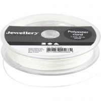 Polyester Cord, thickness 1 mm, white, 50 m/ 1 roll
