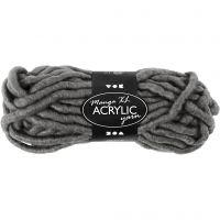 Chunky yarn of acrylic, L: 17 m, size manga , grey, 200 g/ 1 ball