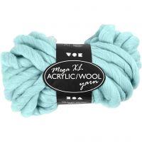 Chunky yarn of acrylic/wool, L: 15 m, size mega , turquoise, 300 g/ 1 ball