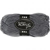 Fantasia Acrylic Yarn, L: 80 m, grey, 50 g/ 1 ball