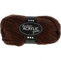 Fantasia Acrylic Yarn, L: 80 m, brown, 50 g/ 1 ball