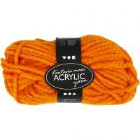 Fantasia Acrylic Yarn, L: 35 m, size maxi , neon orange, 50 g/ 1 ball