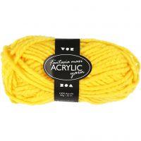 Fantasia Acrylic Yarn, L: 35 m, size maxi , yellow, 50 g/ 1 ball