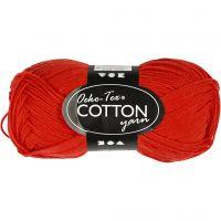 Cotton Yarn, no. 8/4, L: 170 m, red, 50 g/ 1 ball