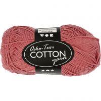 Cotton Yarn, no. 8/4, L: 170 m, terracotta, 50 g/ 1 ball