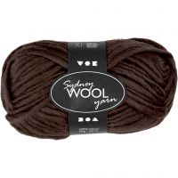 Sydney Yarn, L: 50 m, brown, 50 g/ 1 ball
