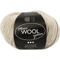 Wool yarn, L: 125 m, sand mixture, 100 g/ 1 ball
