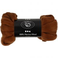 Wool, thickness 21 my, brown, 100 g/ 1 pack
