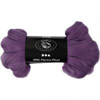 Wool, thickness 21 my, violet, 100 g/ 1 pack