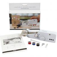 Handheld sewing machine, H: 6,7 cm, L: 20,5 cm, W: 3,5 cm, white, 1 pc