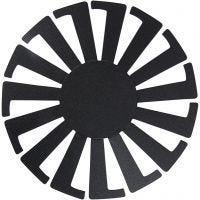 Basket Weaving Template, H: 8 cm, D: 14 cm, black, 10 pc/ 1 pack