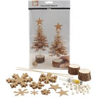 Faux Leather Christmas Trees, thickness 0,55 mm, 1 set