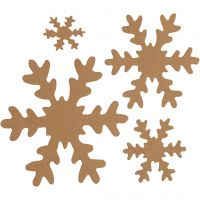 Snowflake, D: 3+5+8+10 cm, 350 g, natural, 16 pc/ 1 pack