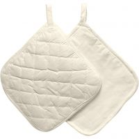 Pot Holders, size 20x20 cm, 115 g, natural, 4 pc/ 1 pack