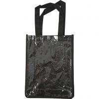 Bag with Plastic Front, size 30x23x7 cm, black, 1 pc