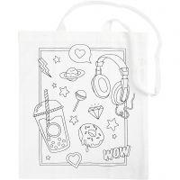 Shopping Bag, size 38x42 cm, 130 g, white, 1 pc