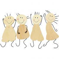 Happy figures, H: 12,5 cm, 4 pc/ 1 pack