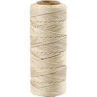 Bamboo Cord, thickness 1 mm, off-white, 65 m/ 1 roll