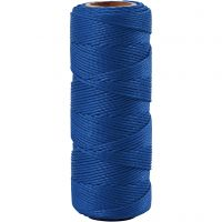 Bamboo Cord, thickness 1 mm, blue, 65 m/ 1 roll