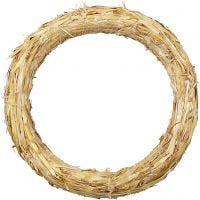 Straw Wreath, D: 27 cm, thickness 3 cm, 1 pc