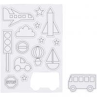 Magnets, Transportation, size 14,85x21 cm, 1 sheet