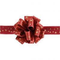 Susifix Ribbon, W: 18 mm, gold, red, 5 m/ 1 roll