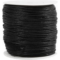 Cotton Cord, thickness 0,6 mm, black, 100 m/ 1 pack