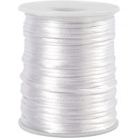 Satin Cord, thickness 2 mm, white, 50 m/ 1 roll