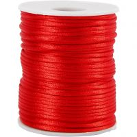 Satin Cord, thickness 2 mm, red, 50 m/ 1 roll